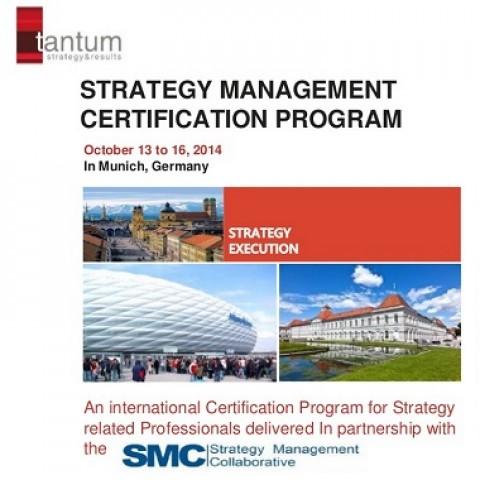 """Curso """"Oficial SMC Strategy Management Certification Program"""" será realizado em Munique"""