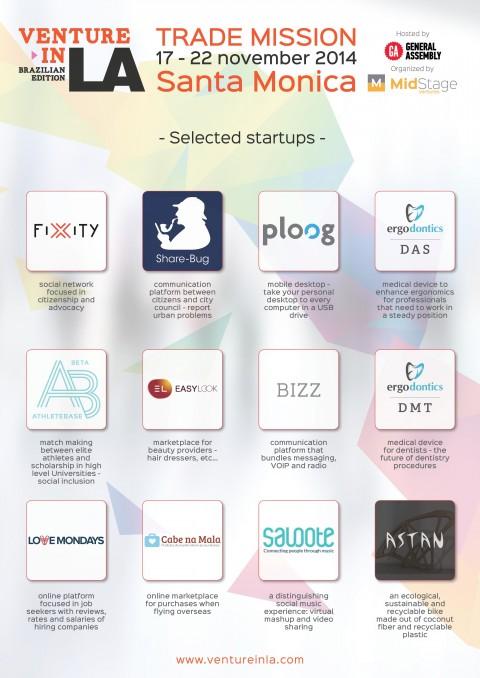 VentureInLA, programa de capacitação para startups, contará com 13 empreendedores em sua 1ª edição